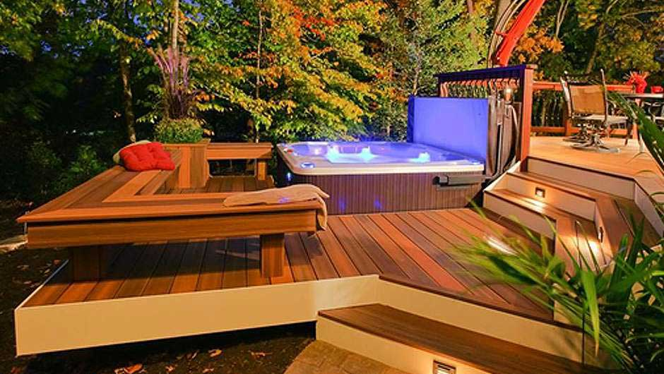 Hot Tub Patio Design Wichita Daves Pool Store Bullfrog Spas