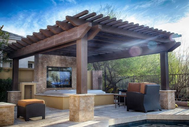 Hot Tub Pergola Design Wichita Daves Pool Store